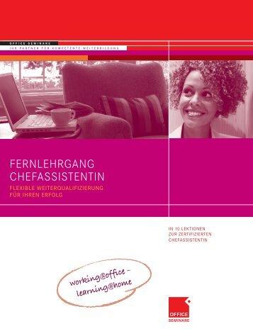 FERNLEHRGANG CHEFASSISTENTIN - OFFICE SEMINARE