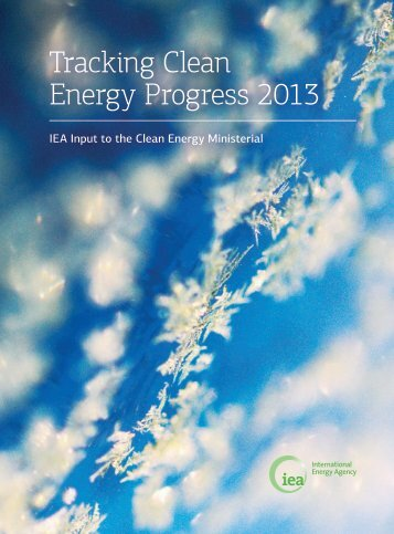 Tracking Clean Energy Process 2013 - International Energy Agency