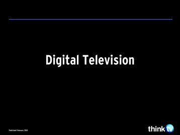 DIGITAL TELEVISION - Think TV