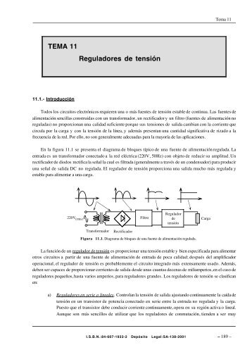 TEMA 11 Reguladores de tensión