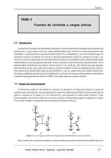 TEMA 5 Fuentes de corriente y cargas activas - CENICASOL