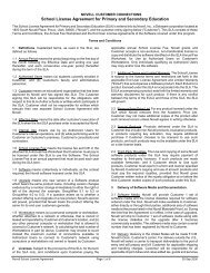 School License Agreement for Primary and Secondary Education
