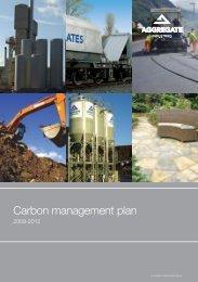 Carbon management plan - Aggregate Industries
