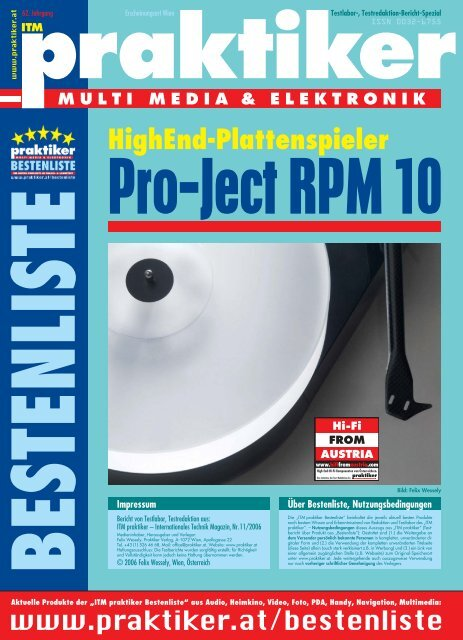 Pro Ject Rpm 10 Highend Plattenspieler Itm Home Praktikerat