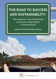 THE ROAD TO SUCCESS AND SUSTAINABILITY: - Our Community