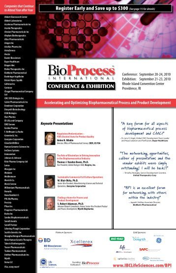 Register Early and Save up to $300 (See page ... - IBC Life Sciences
