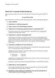 Innkalling til ordinær generalforsamling 26. april ... - PSI Group ASA