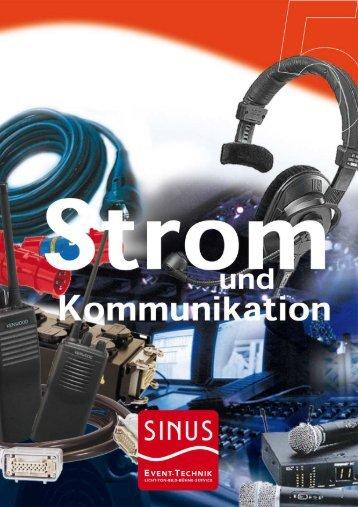Stromversorgung und Kommunikation - SINUS Event-Technik GmbH