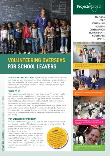 Projects Abroad - Volunteer Overseas - School Leavers.pdf