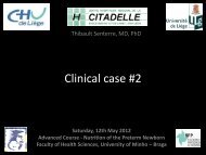 Clinical case : Parenteral nutrition with NUMETA