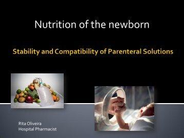 Nutrition of the newborn