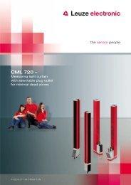 Product brochure CML 720 (PDF) - Leuze electronic
