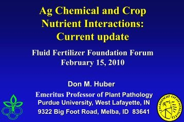 D. Huber - Fluid Fertilizer Foundation