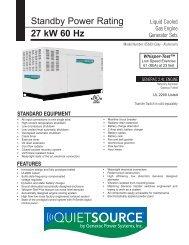 Guardian QuietSource™ 27kW Spec Sheet