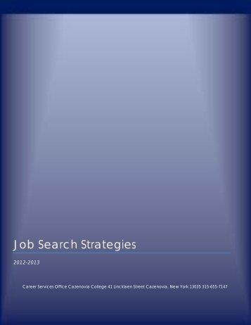 Job Search Strategies - Cazenovia College