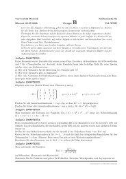 Universität Rostock Mathematik für Klausur 25.07.2008 Gruppe B ...