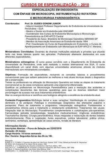 2010 1º Semestre - Cursos EAP Vila Mariana Completo ... - APCD