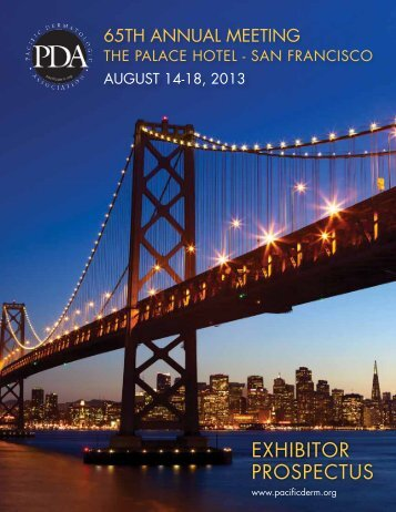 Exhibitor ProsPEctus - Pacific Dermatologic Association