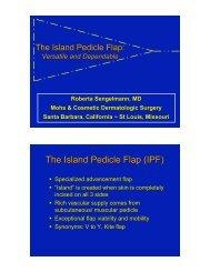 The Island Pedicle Flap (IPF) - Pacific Dermatologic Association