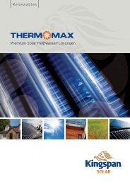 Premium Solar-Heißwasser-Lösungen ... - Kingspan Renewables