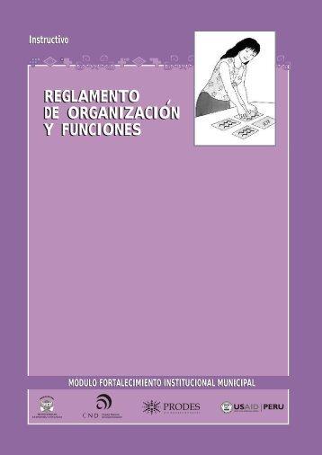 REGLAMENTO DE ORGANIZACION Y FUNCIONES REGLAMENTO ...