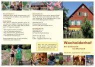 Wacholderhof Flyer 2008 - Wacholderhof e.V.