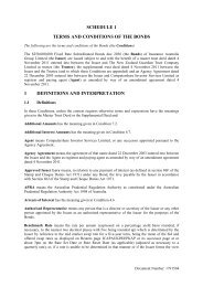 SCHEDULE 1 TERMS AND CONDITIONS OF THE BONDS 1 ... - IAG