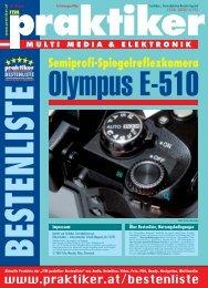 Olympus E-510: Semiprofi-Spiegelreflexkamera ... - HOME praktiker.at