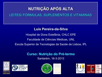 Nutrição após a alta - Luís Pereira da Silva