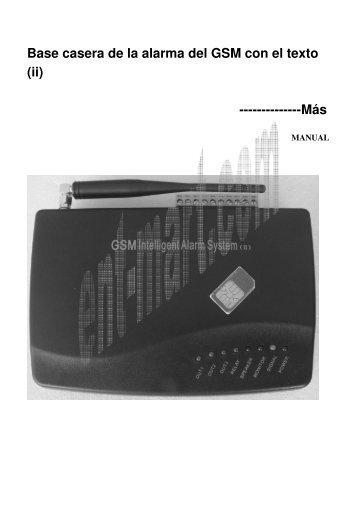 Base casera de la alarma del GSM con el texto