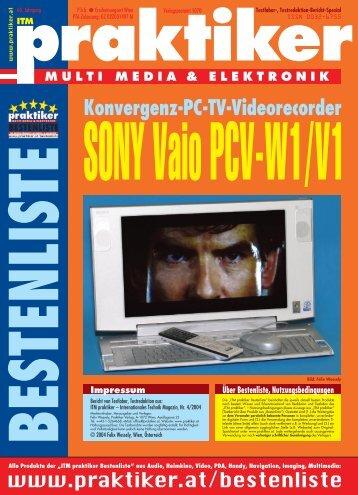 SONY Vaio PCV-W1/V1: Konvergenz-PC-TV ... - HOME praktiker.at