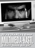 SONY Vaio PCV-W1/V1: Konvergenz-PC-TV ... - HOME praktiker.at - Seite 2