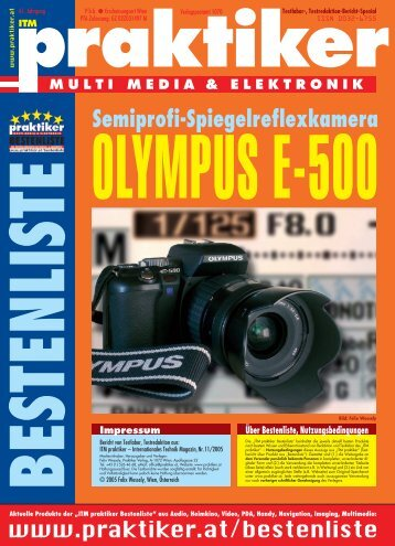 OLYMPUS E-500: Semiprofi-Spiegelreflexkamera - ITM praktiker ...