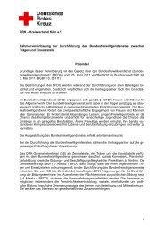 Kooperationsvereinbarung im BFD zwischen Träger und Einsatzstelle