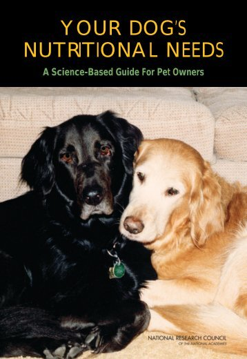 YOUR DOG'S NUTRITIONAL NEEDS