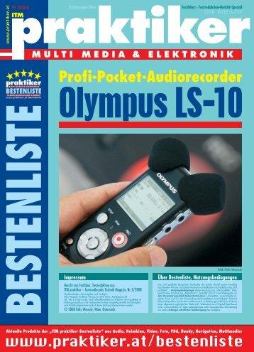 Olympus LS-10: Profi-Pocket-Audiorecorder ... - HOME praktiker.at