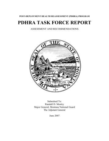 ARNG Post Deployment Health Reassessment (PDHRA)
