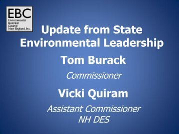 Vicki Quiram - Environmental Business Council of New England, Inc.