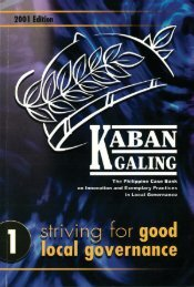 Striving for Good Local Governance - galing pook