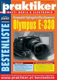 Olympus E-330: Kompakt-Spiegelreflexkamera ... - HOME praktiker.at