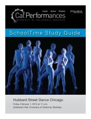 Hubbard Street Dance Chicago - Cal Performances - University of ...