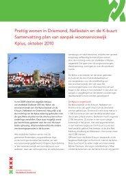 Prettig wonen in Driemond, Nellestein en de K-buurt Samenvatting ...