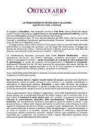 LA PRIMA EDIZIONE DI ORTICOLARIO A VILLA ERBA Il giardino ...