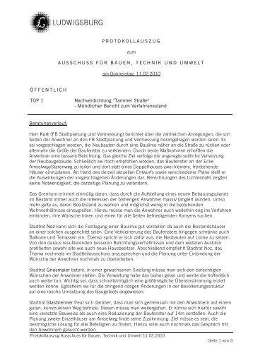 Protokoll (pdf) - Oststadtverein Ludwigsburg