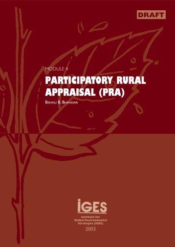 Module 4: Participatory Rural Appraisal (PRA) - IGES