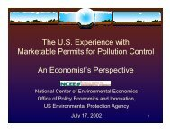 The US Experience with Marketable Permits for Pollution Control An ...