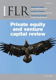 Private equity and venture capital review Buying into Brazil - IFLR.com