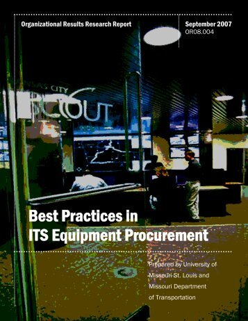 Best Practices in ITS Equipment Procurement - FTP Directory Listing