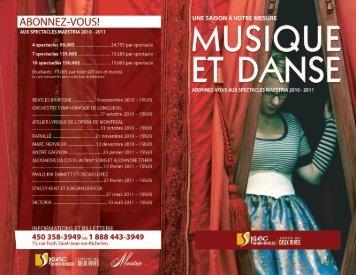 Consultez la brochure de saison de la série Maestria 2010 ... - SPEC