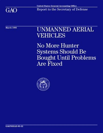 NSIAD-95-52 Unmanned Aerial Vehicles - US Government ...